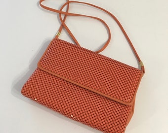 Vintage CORAL MESH BAG by Whiting & Davis