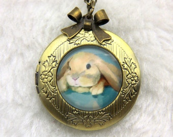 Necklace locket rabbit ram 2020m