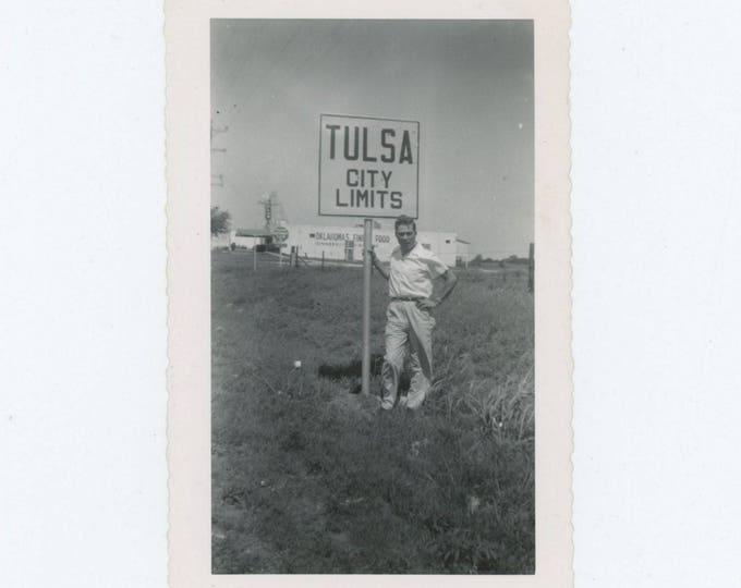 Vintage Photo Snapshot: Tulsa City Limits, 1940s-50s (76587)