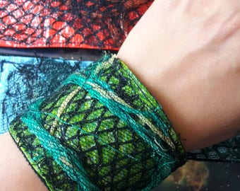 Recycled fabric and plastic eco wrist bands
