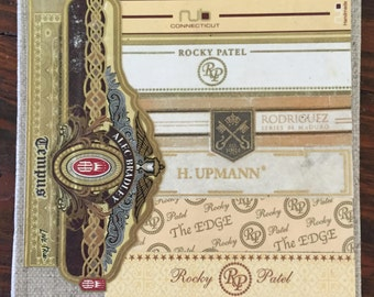 2017 Cigar Band Collage Coaster: Ivory Tempus
