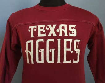 80s Vintage Texas A&M Aggies University ATM ncaa college T-Shirt - SMALL