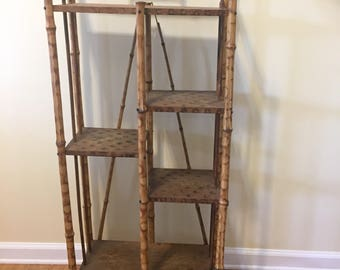 Antique ENGLISH VICTORIAN Bamboo SHELF, English Tiger Bamboo, Circa 1880, Antique Bamboo, Chinoiserie, Asian, English, at Ageless Alchemy