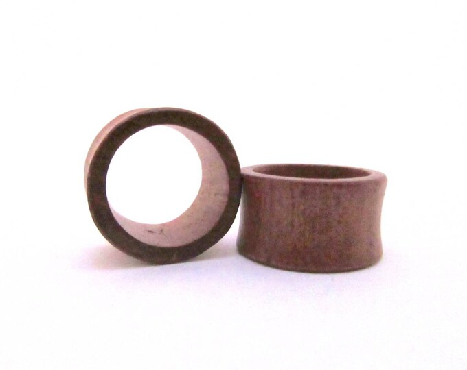 "Brown Wood Tunnels. 7/8"" / 22mm, 1"" / 25mm"