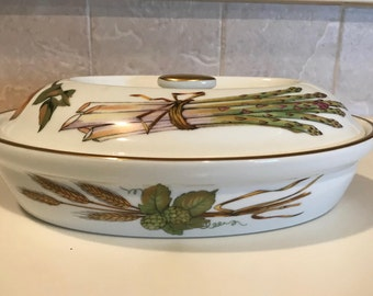 Royal Worcester Fine Porcelain Casserole Evesham Gold Pattern Freezer To  Oven To Table Casserole Baking Dish