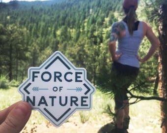 Force Of Nature Vinyl Sticker Design