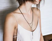 Long Wrap Necklace-Wrap N...
