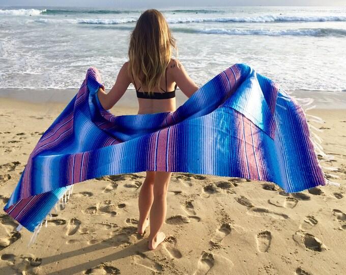 Blush Isle / Cotton Serape Blanket /Falsa Blankets / Mexican Blanket Fabric / Throw Blankets / Mexican Blankets/ Textiles  / Sea Gypsy
