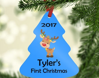 Personalized First Christmas Ornament, Christmas Ornament, Christmas Gifts, Baby's First Christmas
