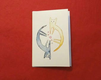Love Cats - 1 x Greetings Card