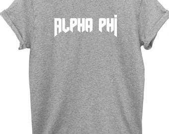 Alpha Phi Shirt - Alpha Phi - Alpha Phi Tee - Sorority Tee - Big Shirt - Little Shirt - Greek Shirt - Sorority - Alpha Phi Top - Greek Top