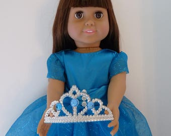 18 inch Princess Doll Dress, Crowns, Fancy dresses, Ballroom dresses, Evening Dresses,