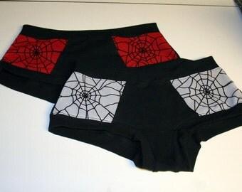 Custom Made Peek A Boo Web Lace Scrundies - Ladies Underwear