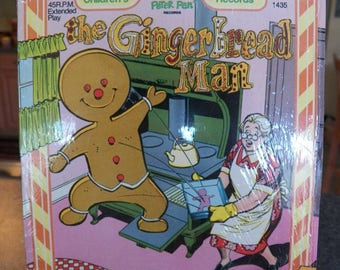 Vintage THE GINGERBREAD MAN Peter Ran 45 rpm Record Excellent