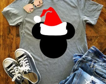 Mickey TODDLER Christmas Shirt / Disney Christmas Shirt / Disney Santa Hat / Mickey's Very Merry Christmas Shirt