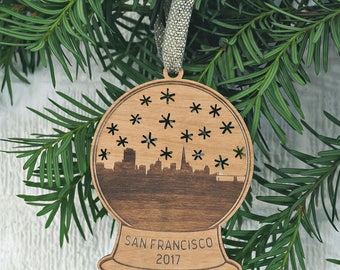 San Francisco Snow Globe Ornament