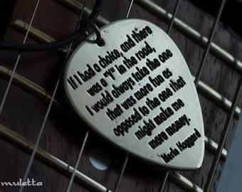 If I had a choice Merle Haggard guitar pick
