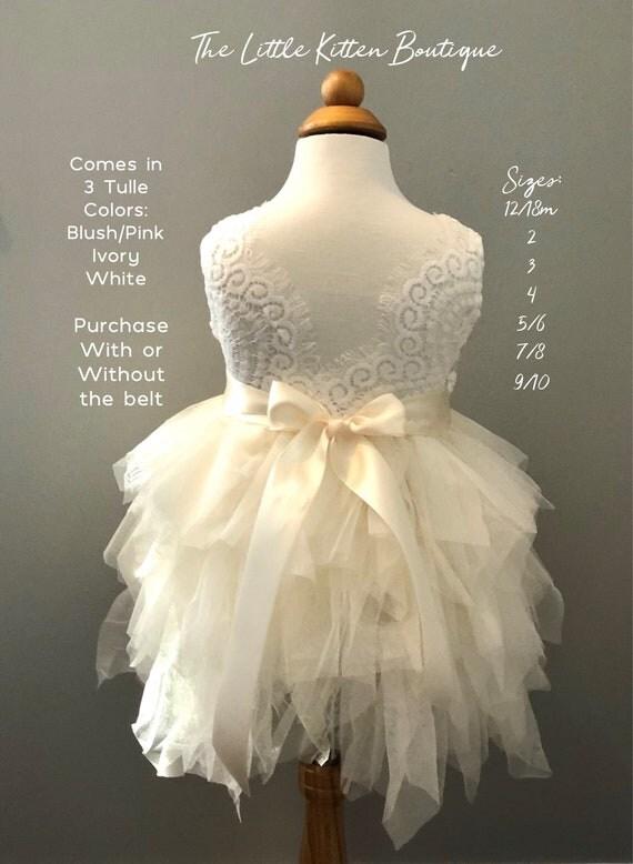 Ivory Flower Girl Dress, Pink Flower Girl Dress, Flower Girl Dress, Lace Flower Girl Dress, Tulle Flower Girl Dress Rustic Flower Girl Dress