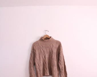 Chunky Cable Knit 90s Sweater
