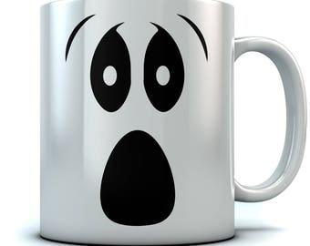 Scary Ghoul Face Halloween Ghost Coffee Mug