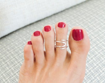 Sterling Silver Toe Ring Adjustable Toe Ring Summer Jewelry Body Jewelry For Women