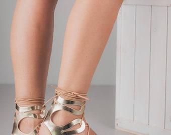 gold sandals, bridesmaids shoes, bridesmaids sandals, boho wedding shoes, boho wedding flats, womens sandals, lace up shoes