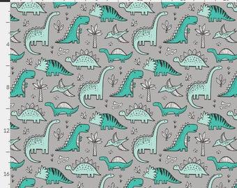Baby Bedding Crib Bedding - Dinosaur, Teal, Mint, Gray, Baby Boy - Baby Blanket, Crib Sheet, Changing Pad Cover, Boppy Cover