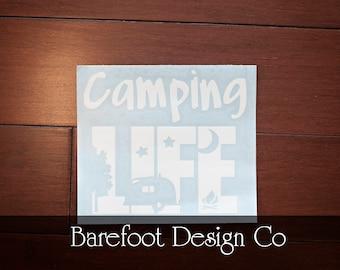 Camping Life Vinyl Decal