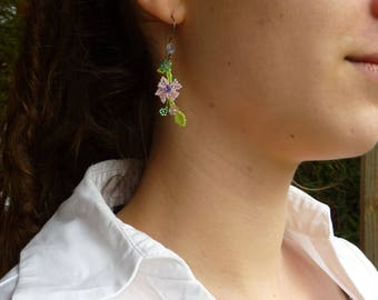 Earrings plant multi colors