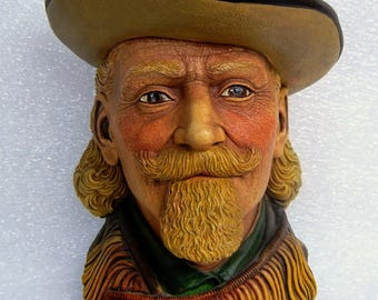 Buffalo Bill Cody by Legend Products Chalkware Figure Signed