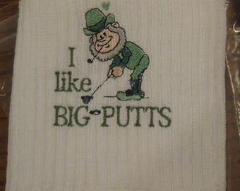 Big Putts Embroidered Golf Towel