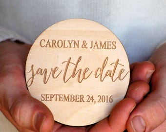 Modern Save the Date, Calligraphy Save the Date, Save the Date Wedding, Save the Date Magnet, Wooden Save the Date, Simple Save the Date