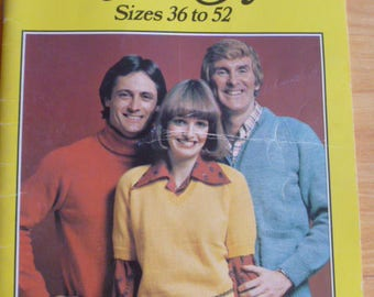 Classic Styles by Patons 408 to knit, sweaters, cardigans, polo, V neck, traditional - 1243