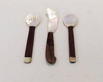 Mother Of Pearl Serving Set
