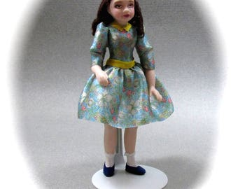 Dollhouse Doll LITTLE GIRL Porcelain Miniature Doll 1:12 Scale