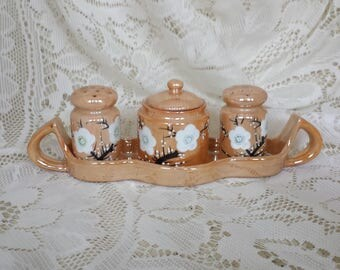 Cherry Blossom Luster Condiment Set - Japan
