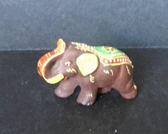 Miniature Satsuma Style  Elephant