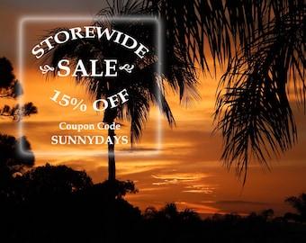 STOREWIDE SALE! 15% Off at HiddenStairwayFinds!