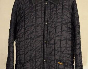Vintage Barbour liddesdale quilted hunting jacket S-M-NAVY