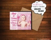 Birthday Photo Magnet  |  Personalized Party Favor > Envelopes Included > FREE SHIPPING
