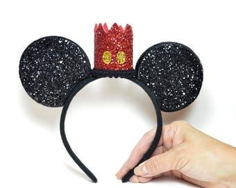 Mickey Mouse Headband | Mickey Ears || Minnie Mouse Ears || Mouse Ears || Vintage Mickey