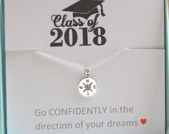 Graduation Gift for her, Class of 2018, Go confidently in the direction of your dreams, high school graduation, college graduation gift