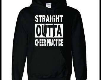 Straight Outta Cheer Practice Hoodie Custom Cheer Apparel