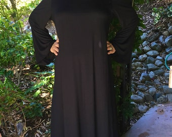 Plus Size Maxi, Maxi dress, Black Maxi, Bell Sleeve Maxi, Plus Size Hippie Dress, Boho Maxi, Plus Size Maxi, Black Dress, XL 2X 3X, V Neck