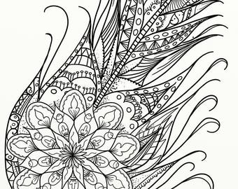 10 x Celtic Knots & Mandala Adult Coloring Pages - Instant PDF Download for DIY A4 Printing 02