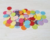 Round Confetti, Rainbow confetti, handmade confetti, birthday party, table scatters, wedding table decor, shaker card embellishment
