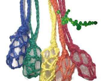 Sale - Danburite Mediumship Hemp Necklace