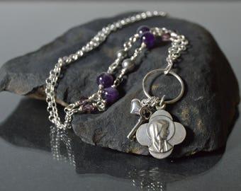 Virgin Mary Necklace, Catholic Jewelry, Our Lady of Lourdes, Catholic Religious Jewelry, Religious Necklace, Catholic gift, Godmother