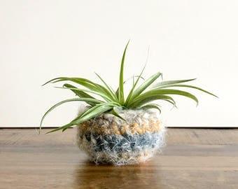 Crochet Air Plant Holder - Tillandsia Holder - Hygge Plant Decor - Air Plant Decor - Dorm Room Decorations - Air Plant Pot - Gifts Under 5