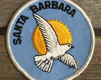 Santa Barbara California Vintage Souvenir Travel Patch